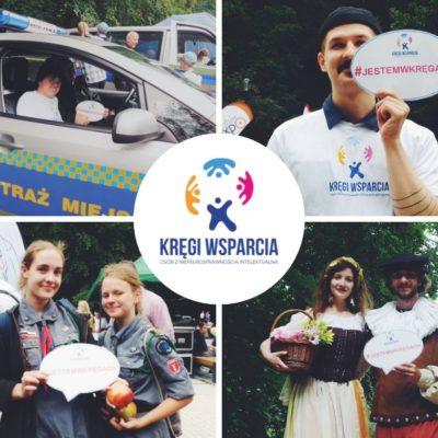 ruszyła kampania edukacyjna w Gdańsku, osoby z kręgów wsparcia fotografują się z logo i hasłem jestem w kręgach, kolaż zdjęć