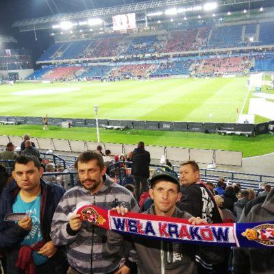 Jarosławskie kręgi wsparcia na meczu Wisły Kraków