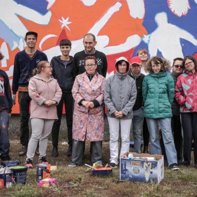 Osoby z NI namalowały Mural w Gdańsku