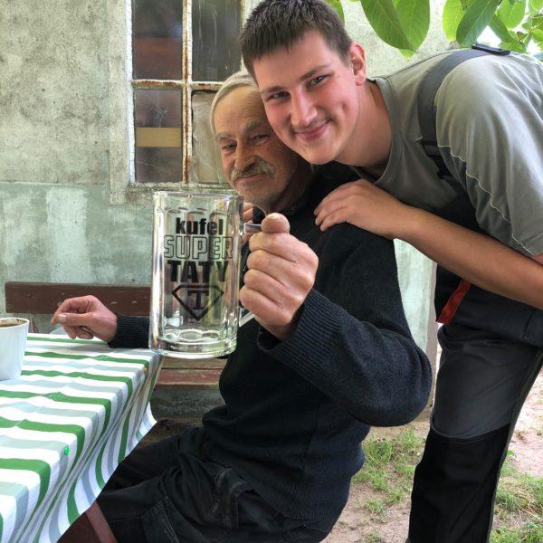 Michał z tatą Goleniów